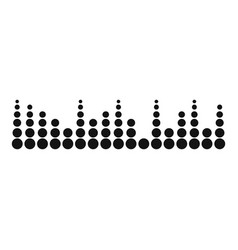equalizer musical radio icon simple black style vector image vector image