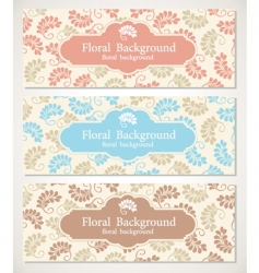 floral backgrounds and frames vector image