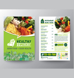 food delivery flyer pamphlet brochure design vector image
