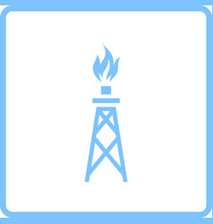 Gas tower icon vector