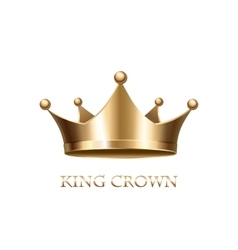 Gold Crown Isolated On White Background vector