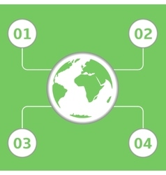 Green earth infographic vector