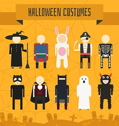 Halloween Costumes vector image