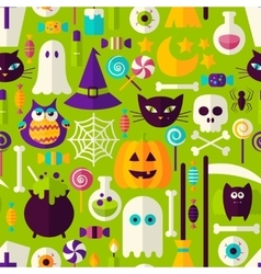 Halloween Holiday Seamless Pattern vector image
