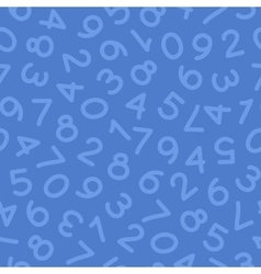Hand drawn numbers seamless pattern blue vector