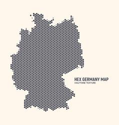 hexagonal halftone design germany map vector image