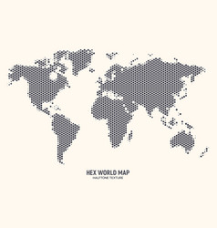 hexagonal world map vector image
