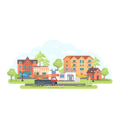 House under construction - flat design style vector
