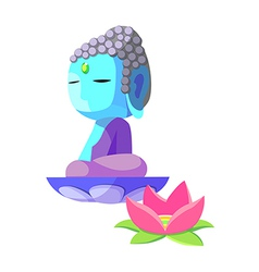 Icon buddha vector