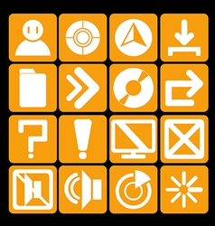 Icon technology orange vector