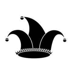 Jester hat celebration ornament pictogram vector