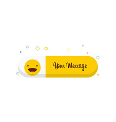 laughing emoji icon design vector image