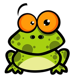 Little Frog Cartoon Character vector image