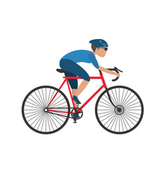 Man riding a bike vector