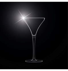 Martini glass cocktail vector
