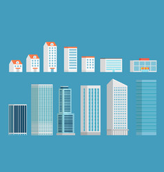 modern city buildings clipart isometric buildings vector image