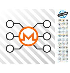 monero node links flat icon with bonus vector image
