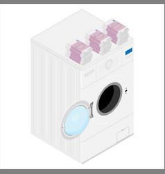 money laundering concept vector image