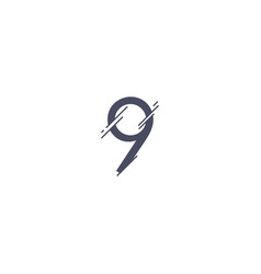 number 9 template design vector image