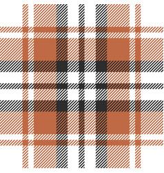 Orange plaid pattern vector