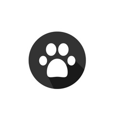 paw print icon graphic design template vector image