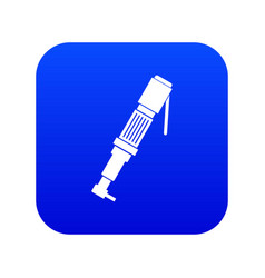 Pneumatic screwdriver icon digital blue vector