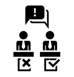 Political debate speech icon simple style vector
