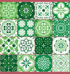 Portuguese spanish azujelo seamless pattern vector