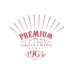 Premium Clothing Vintage Emblem vector image