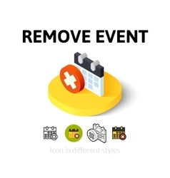 Remove event icon in different style vector