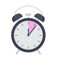 Retro alarm clock flat vector