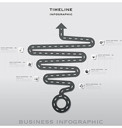 Road And Street Traffic Sign Timeline Business vector image