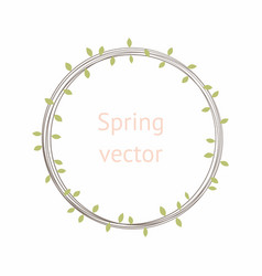 Round wreath with leaves vector