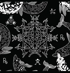 Seamless pattern with gothic symbols vector