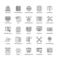 search engine and optimization innovative icons vector image