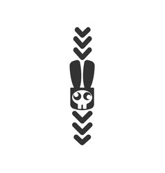 serious hare pointer rabbit bunny hare of icon vector image