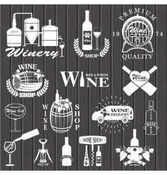 set wine signs badges vector image