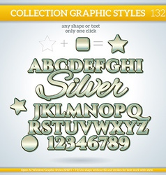 Silver Graphic Style for Design vector image
