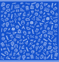 sketch icons on a school theme on a white vector image