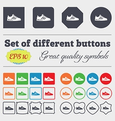 Sneakers icon sign Big set of colorful diverse vector image