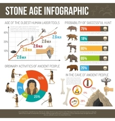 Stone Age Infographic vector image