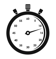 stopwatch icon simple style vector image