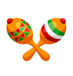 two mexican decorated maracas vector image