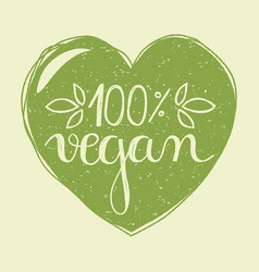 Vegan heart vector