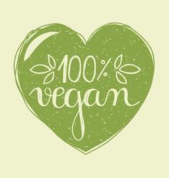 vegan heart vector image