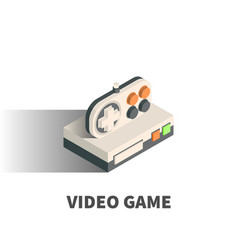 video game icon symbol vector image