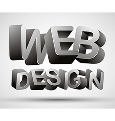 Web design lettering vector