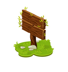 wooden board pointer in isometric with vector image