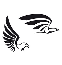 Black eagles vector