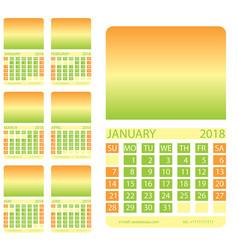 calendar grid first six months vector image